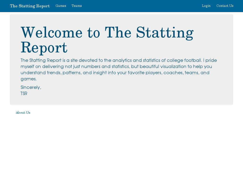 The Statting Report