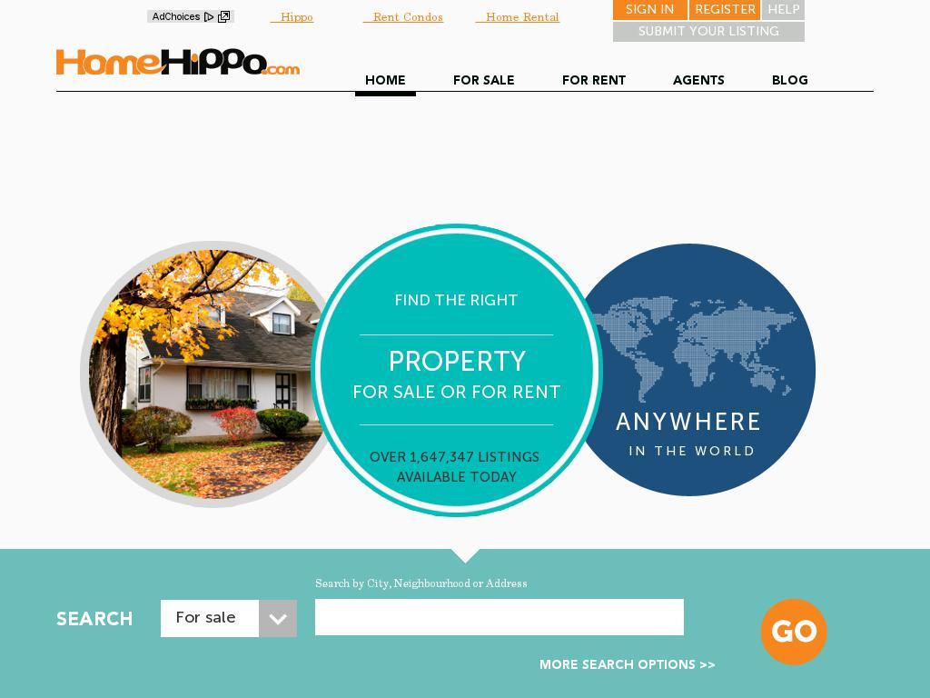 screenshot of HomeHippo.com