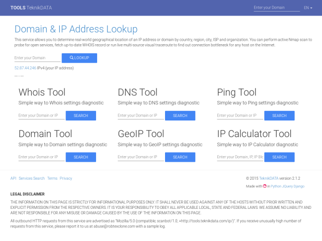 screenshot of DNS Tool