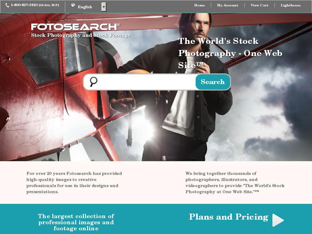 screenshot of Fotosearch