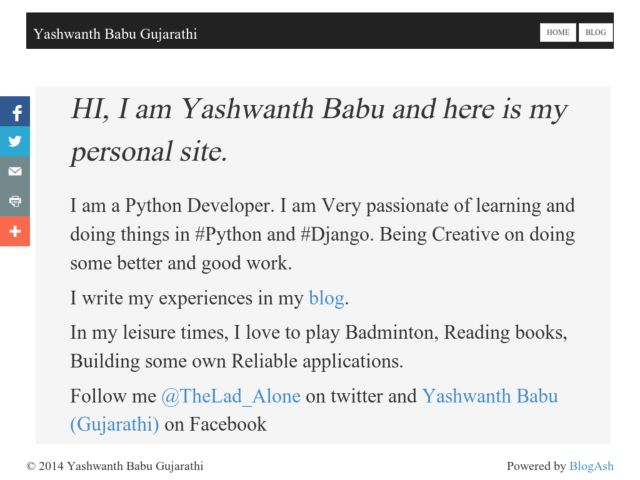 screenshot of Yashwanth Babu