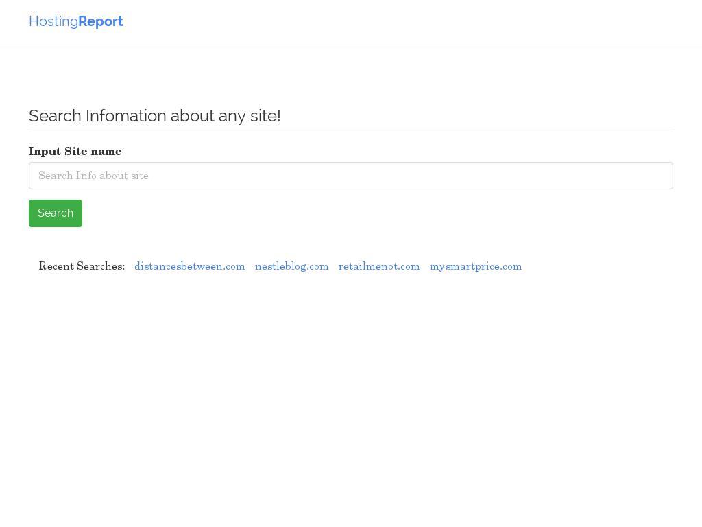 hosting report