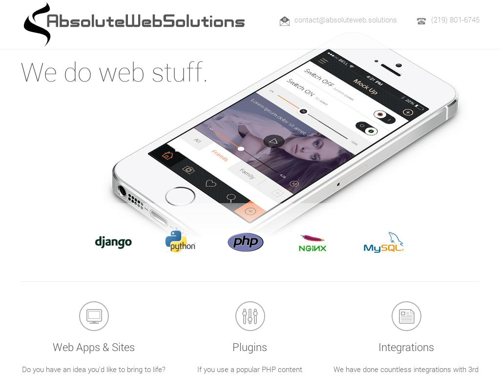 screenshot of Absolute Web Solutions