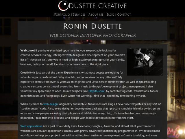 screenshot of Dusette Creative