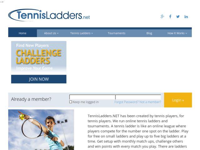 screenshot of Tennis Ladders