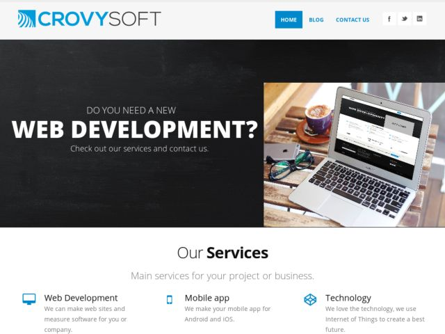 screenshot of CrovySoft