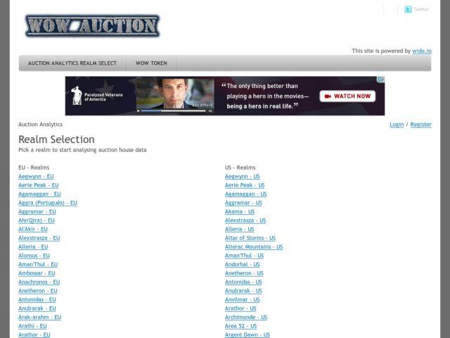 screenshot of WoWAuction