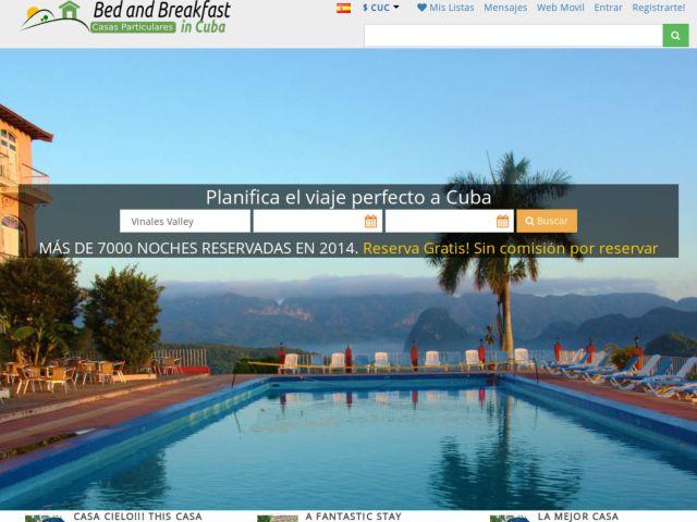 screenshot of Casas Particulares Cuba