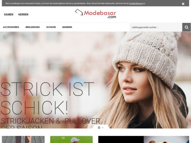screenshot of Modebasar