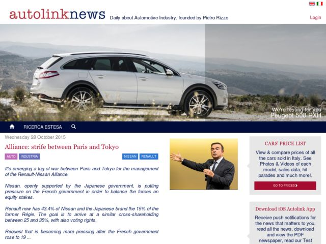 screenshot of Autolinknews