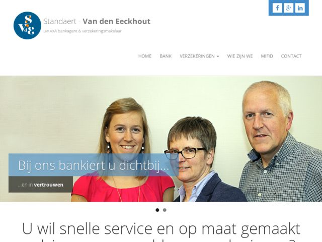 screenshot of Standaert-VDE banking & insurance