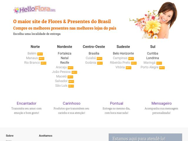 screenshot of HelloFlora.com