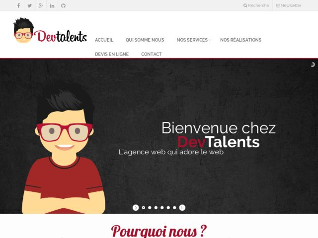 screenshot of DevTalents