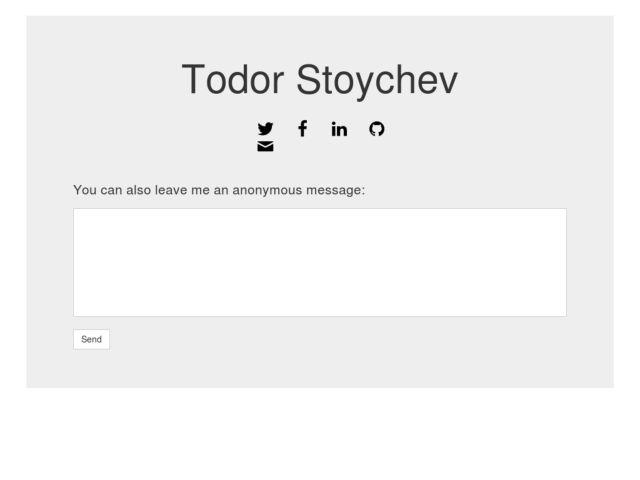 screenshot of Todor Stoychev