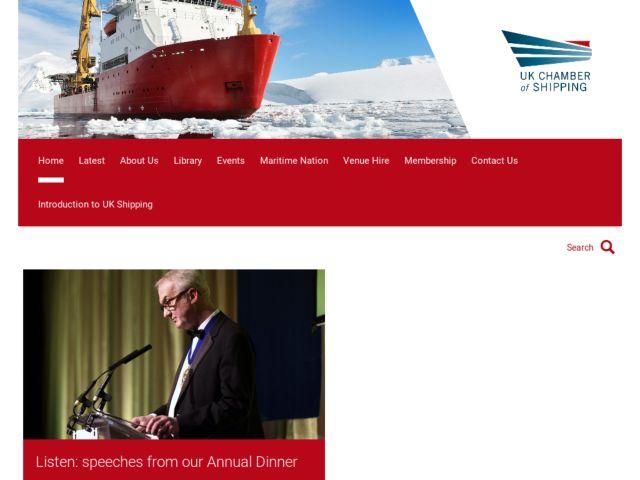 screenshot of Chamber of Shipping