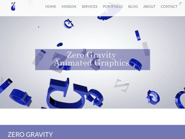 screenshot of Zero Gravity Animated Graphics