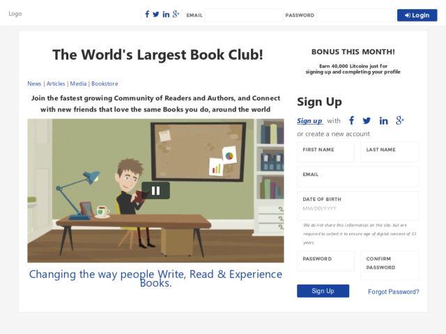 screenshot of Reader's Legacy