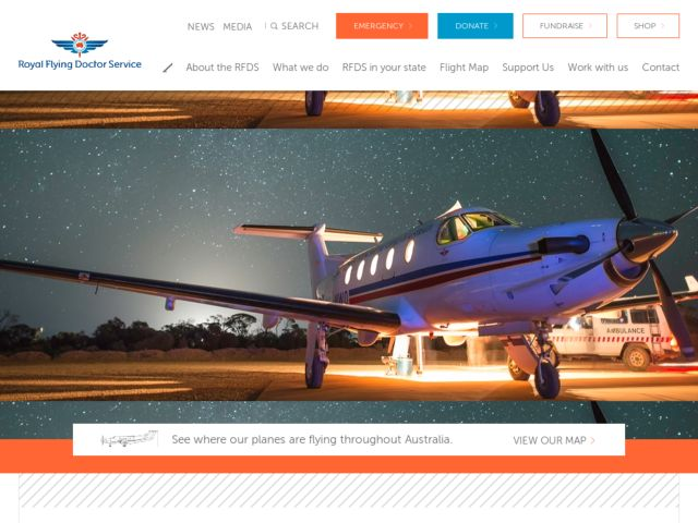screenshot of Royal Flying Doctor Service