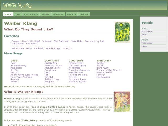 screenshot of Walter Klang