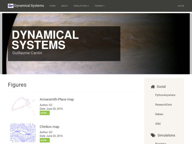 screenshot of Dynamical systems