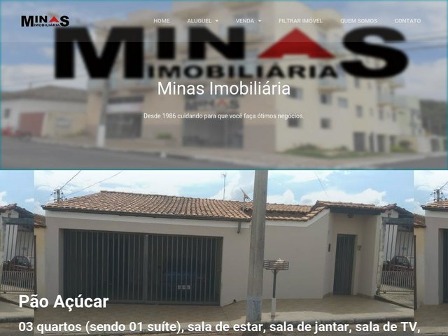 screenshot of Minas Imobiliaria Real Estate