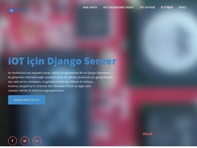 screenshot of IOT Dashboard