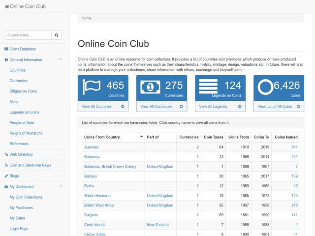Online Coin Club