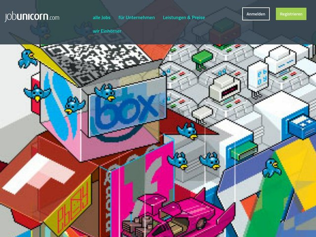 screenshot of JobUnicorn.com