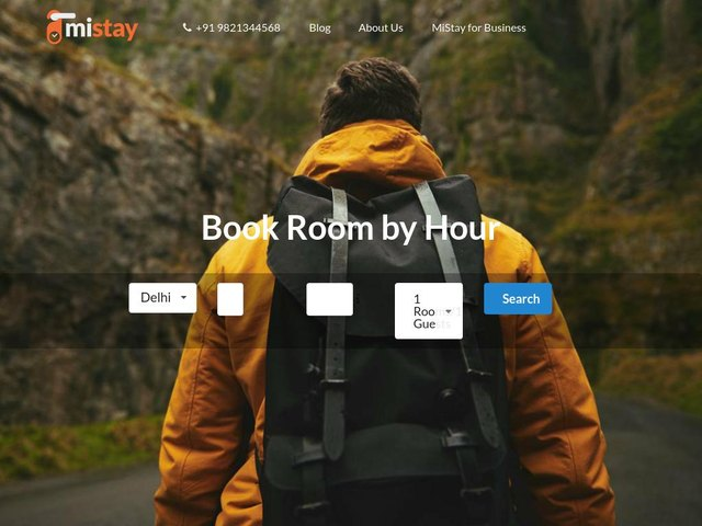screenshot of MiStay - Day use hotels, 24 hour checkin, room for few hours