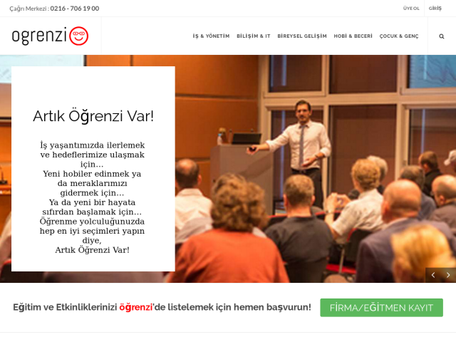 screenshot of Ogrenzi.com