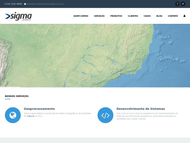 screenshot of Sigma GeoSistemas