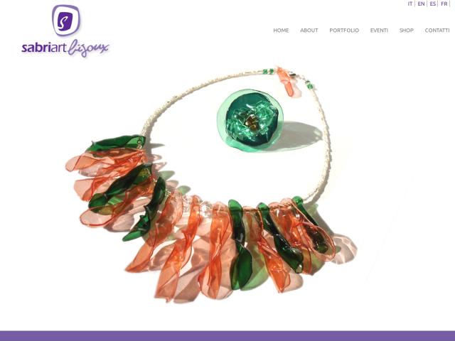 screenshot of sabriart bijoux