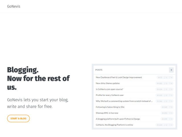 GoNevis, the Blogging Platform