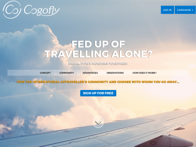 screenshot of Cogofly - Find a trust person to travel together and give your ambitions a boost