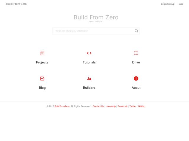 screenshot of Build From Zero