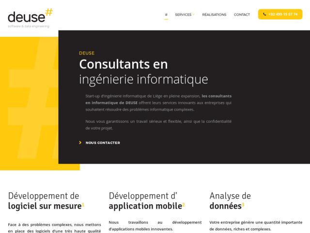 screenshot of Deuse : IT consultants