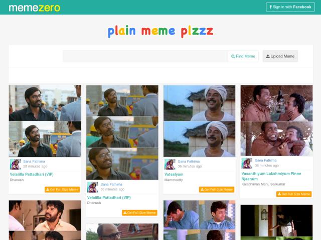 screenshot of Memezero: Plain Malayalam Movie Memes for Trolls