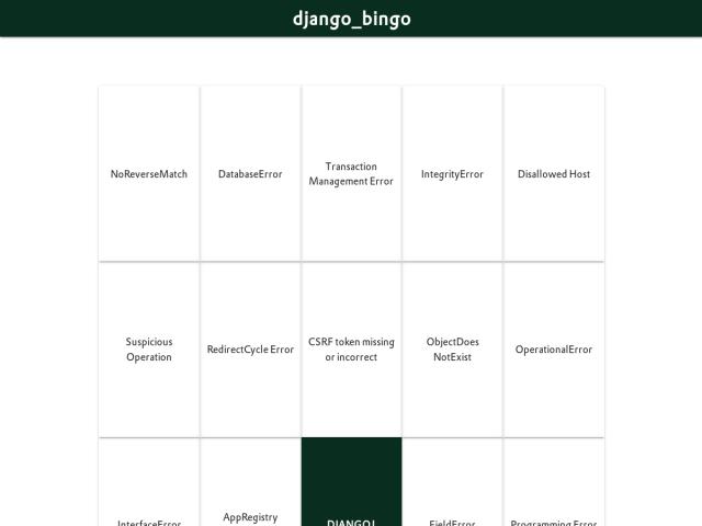django_bingo
