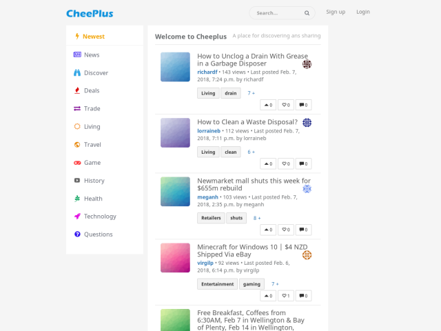 screenshot of CheePlus
