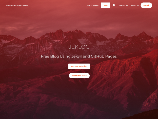 screenshot of JekLog