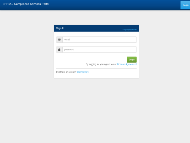 screenshot of Compliance Portal