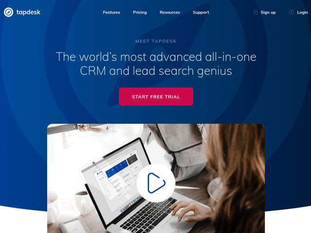 Tapdesk CRM