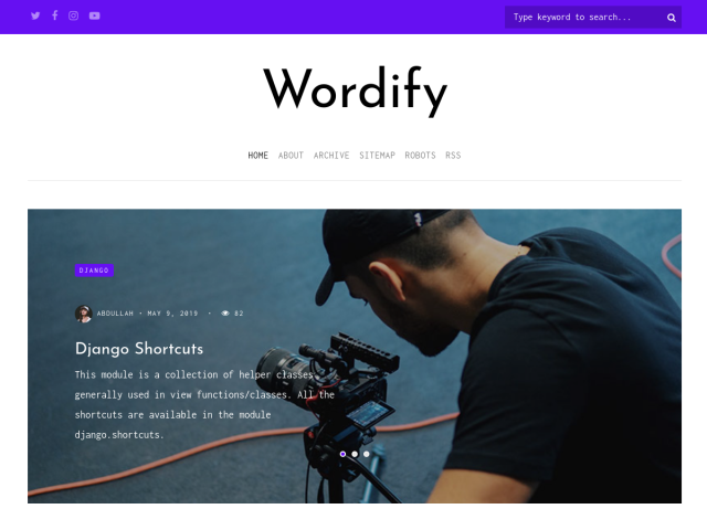 Wordify django blog