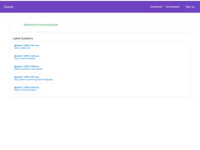 screenshot of newquora