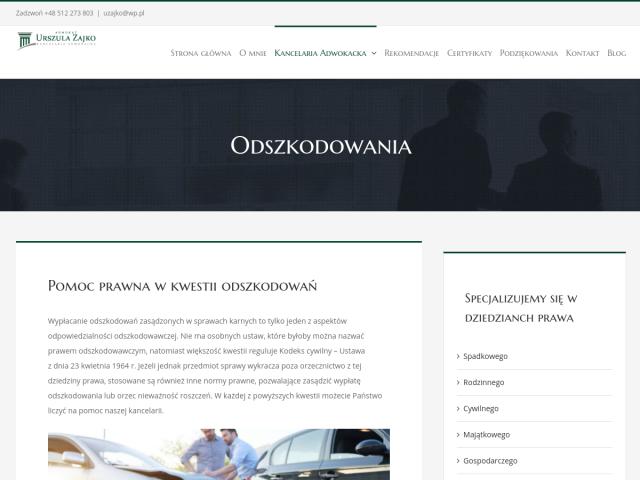 Compensation Białystok - adv. Urszula Zajko