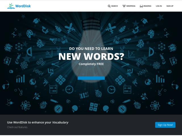 screenshot of WordDisk