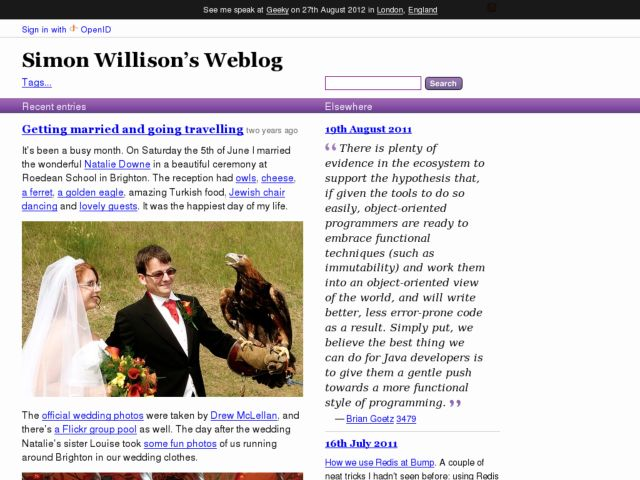 Simon Willison's Weblog