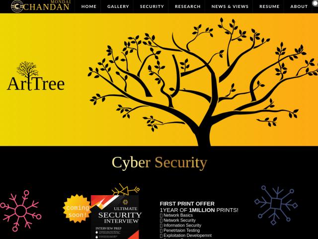 screenshot of Chandan Mondal