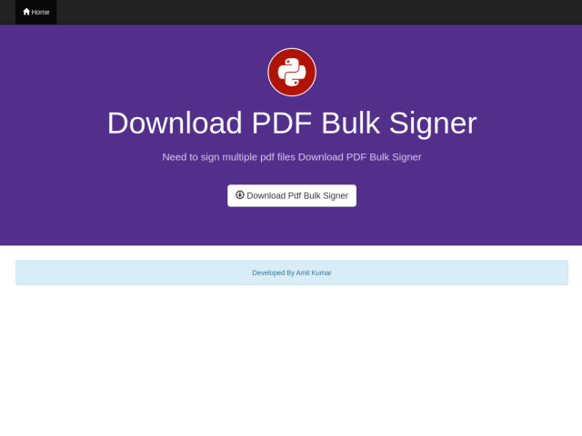 PDF BULK Signer
