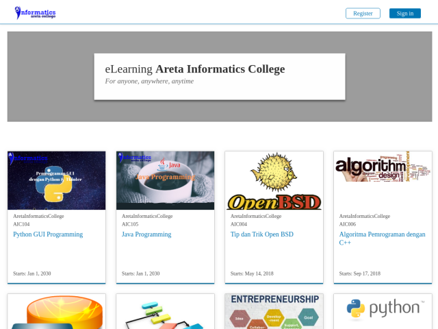 screenshot of Online Class Indonesia